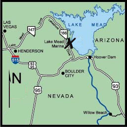 Directions on getting to Lake Mead Marina and the FUNN Divers dive boat.
